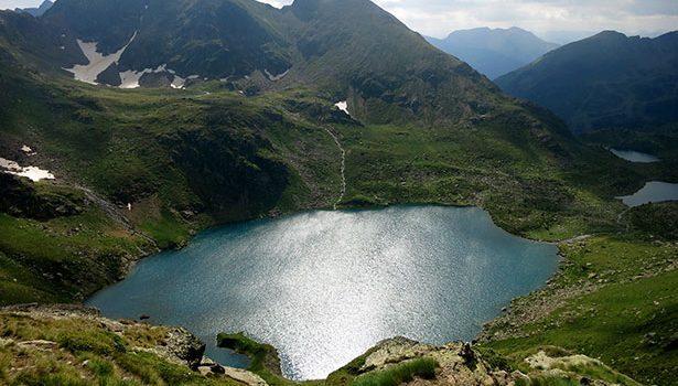 Los lagos de Tristaina desde su vertiente al oeste