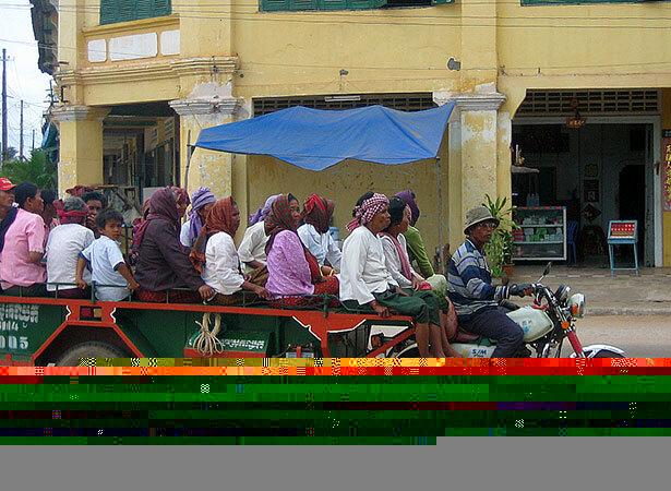 Uno de los transportes posibles en Camboya