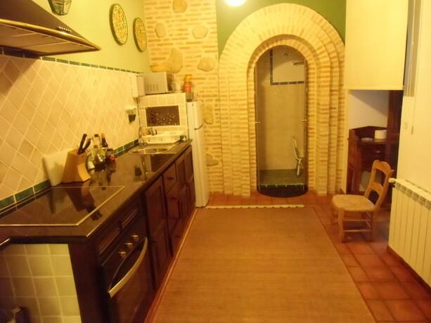 Los tres apartamentos dentro de la casa tienen su propia cocina