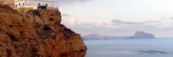 Faro del Albir al atardecer