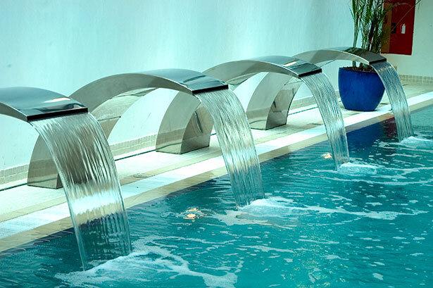 Los chorros de agua en el spa