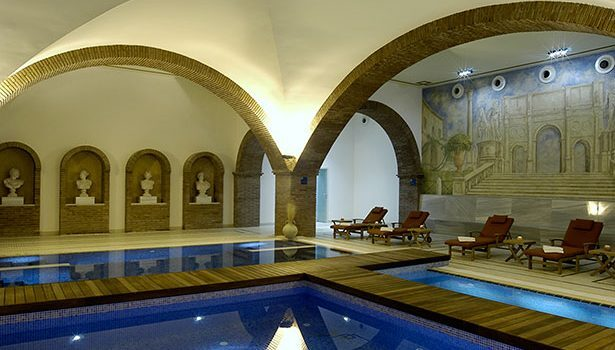 Sala de aguas en el balneario
