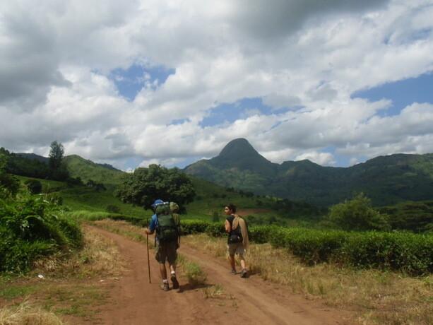 Comenzando el trekking al Namuli