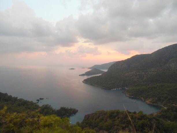 Las bellas vistas que tuve al atardecer, justo antes de la hecatombe