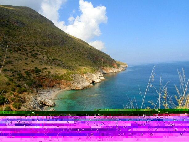 La Reserva Natural de Lo Zingaro, en Sicilia, es uno de los lugares que vimos en tierra