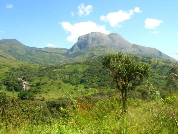 Bonito paisaje llegando a la aldea a las faldas del Namuli