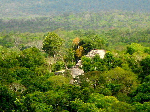 Vista de otro templo desde la cima del 216