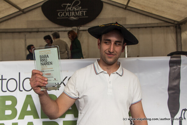 Fabio Oruç Argote, productor ganador Fiesta Alubias de Tolosa 2014