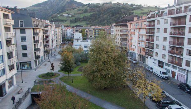 Verdes y tranquilas vistas desde el Hotel Oria en Tolosa
