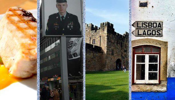 De izquierda a derecha: Tapas en Lugo @elpachinko, Berlín @laviajerablog, El castillo de Alnwich @madabouttravel, Alentejo @elrincondesele