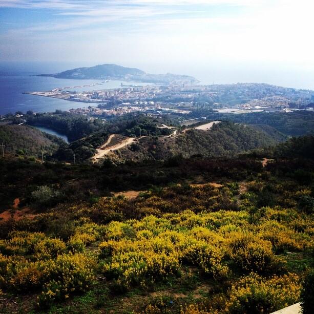 Vistas de Ceuta desde el mirador de Isabel II