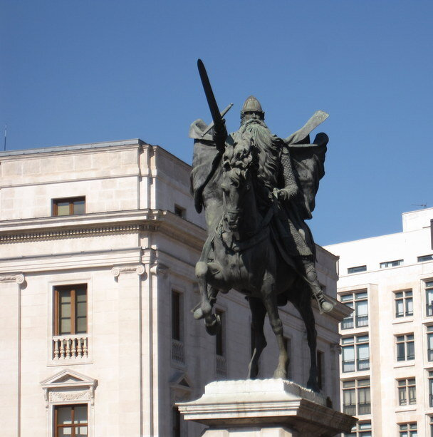 La estatua de El Cid