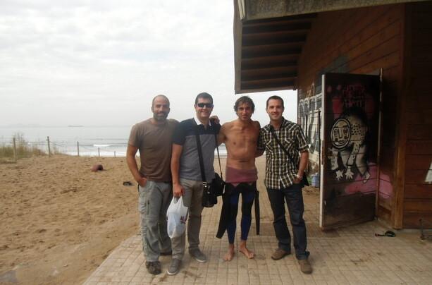 Con Fran, Miguel y Jagoba al finalizar la mañana