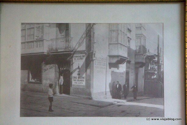 Foto de época, Ultramarinos El Rápido, Ferrol