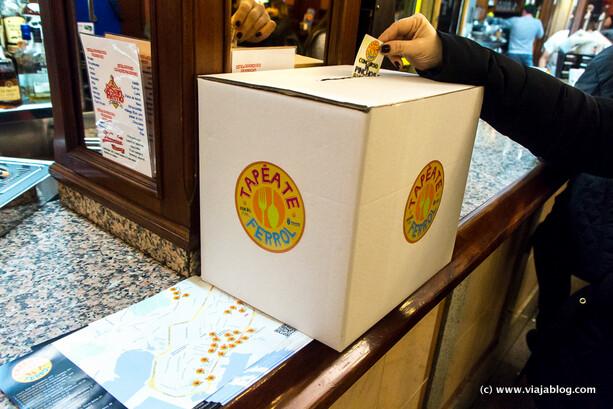 Urna de votacion Tapétate Ferrol, De Tapas por Galicia