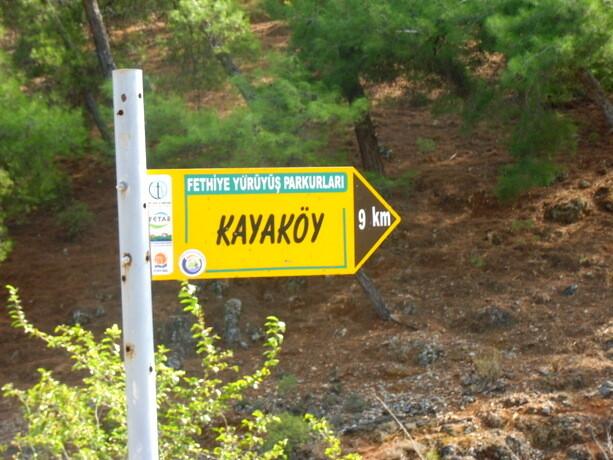 Comienzo de la Ruta Licia a las afueras de Fethiye