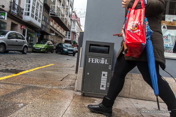 Plano del Barrio A Magdalena en las papeleras de Ferrol, Coruña