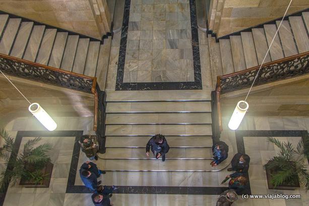 Escalera Sala de Armas, Arsenal, Ferrol, Coruña