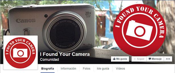 La comunidad en Facebook I found your camera