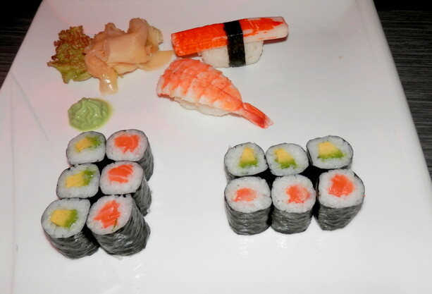 Sushi en Berlín. Friedrischain