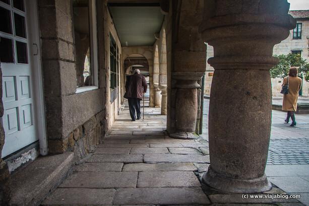 Soportales en el casco antiguo de Pontevedra