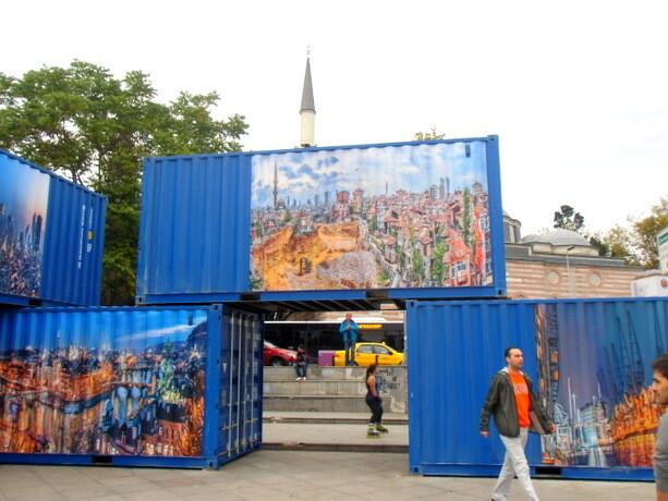 Arte en la calle en Ortaköy
