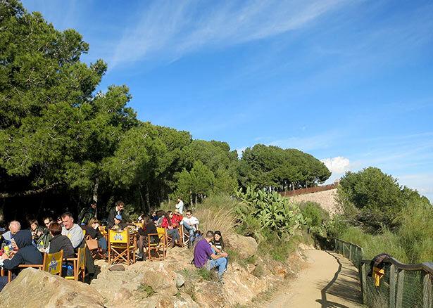 La terraza privilegiada de la Caseta del Migdia