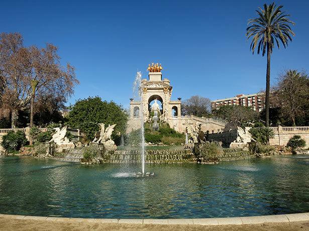 La cascada monumental en el Parc de la Ciutadella