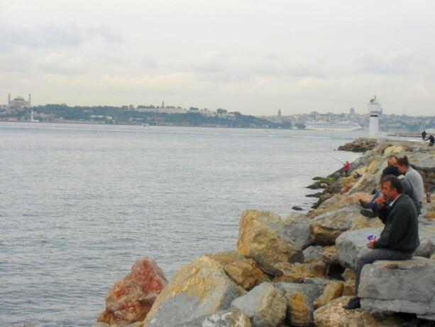Pescadores en Kadiköy