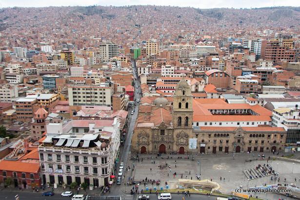 Plaza Mayor de San Francisco desde Hotel Presidente, La Paz, Bolivia