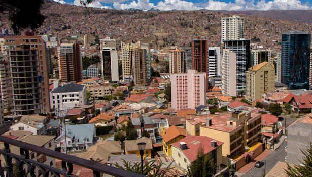 Rincón de La Paz desde un mirador, Bolivia