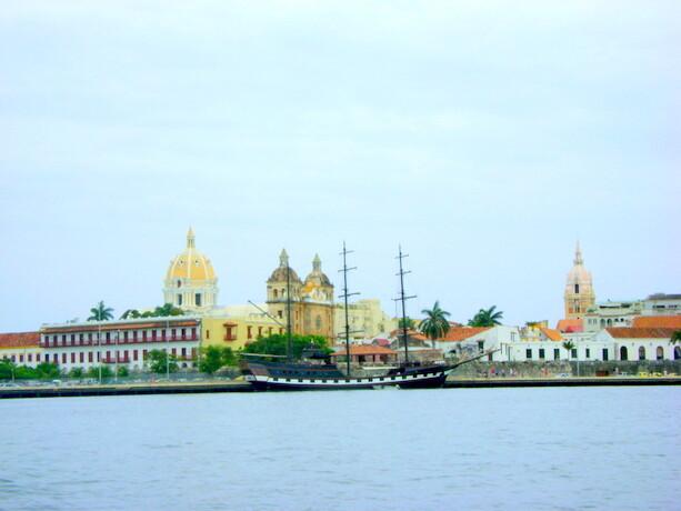 Cartagena de Indias desde el Caribe