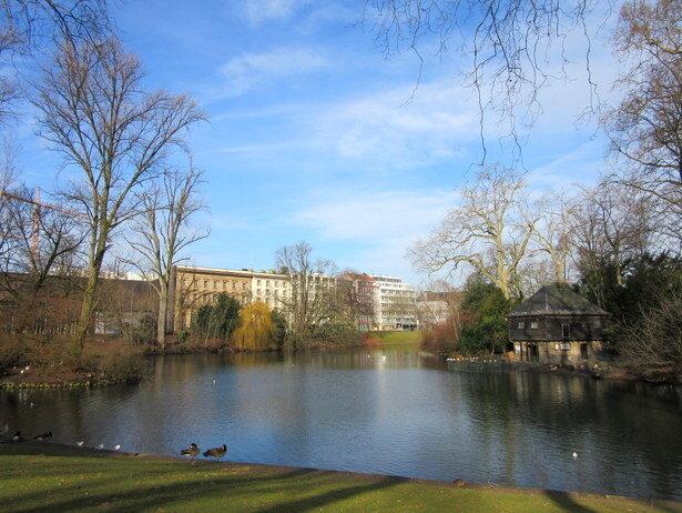El parque Hofgarten. El parque público más antiguo de Alemania