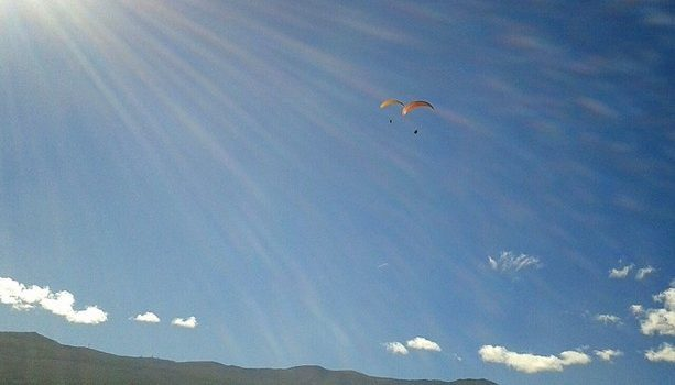 Paco Nadal y yo en el aire