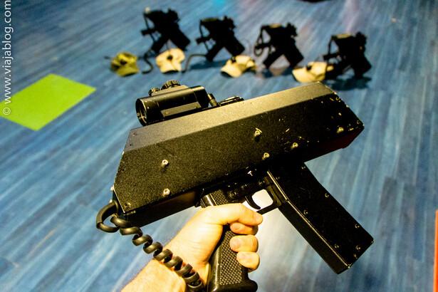 Scorpio de Laser Tag usada en Laser LoL en León