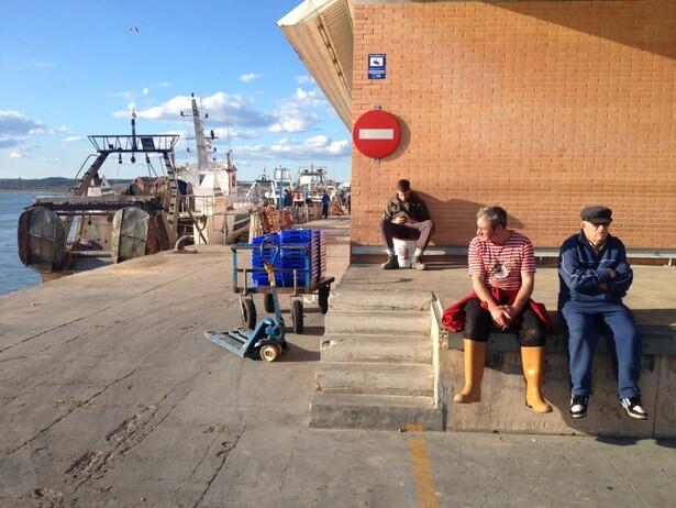 Pescadores en Isla Cristina