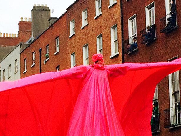Desfile de San Patrick en el centro de Dublín