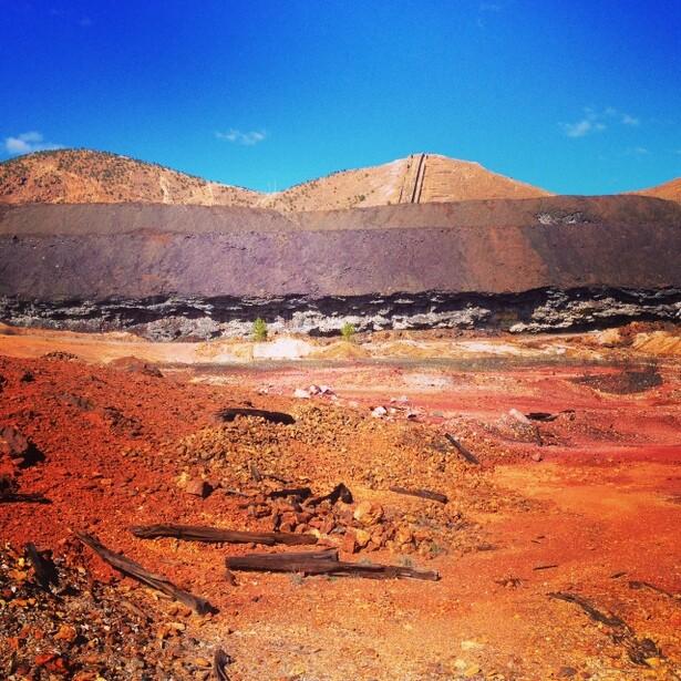 El paisaje marciano de las minas de Río Tinto en Huelva