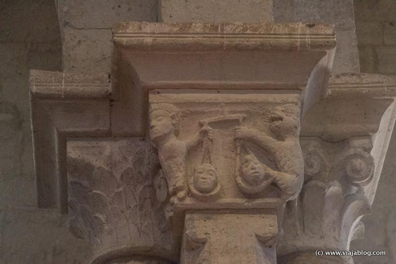 Pesando los pecados de las almas, Iglesia de Santa María (Wamba, Valladolid)