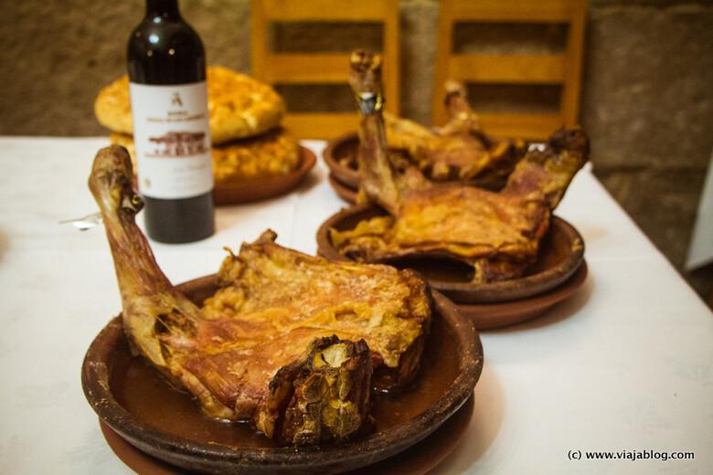 Lechazo churro asado, Molino de Palacios, Peñafiel, Valladolid