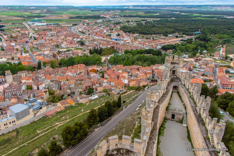Vistas de Peñafiel desde su Castillo, Valladolid