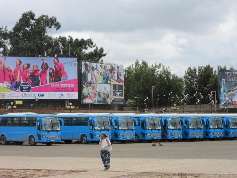 Autobuses en Addis