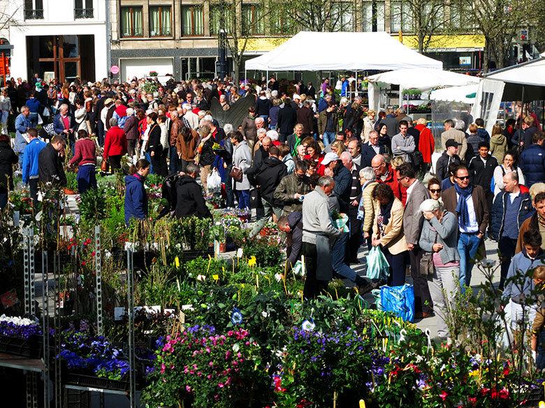 El mercado de flores en Gante abierto todos los sábados y domingos