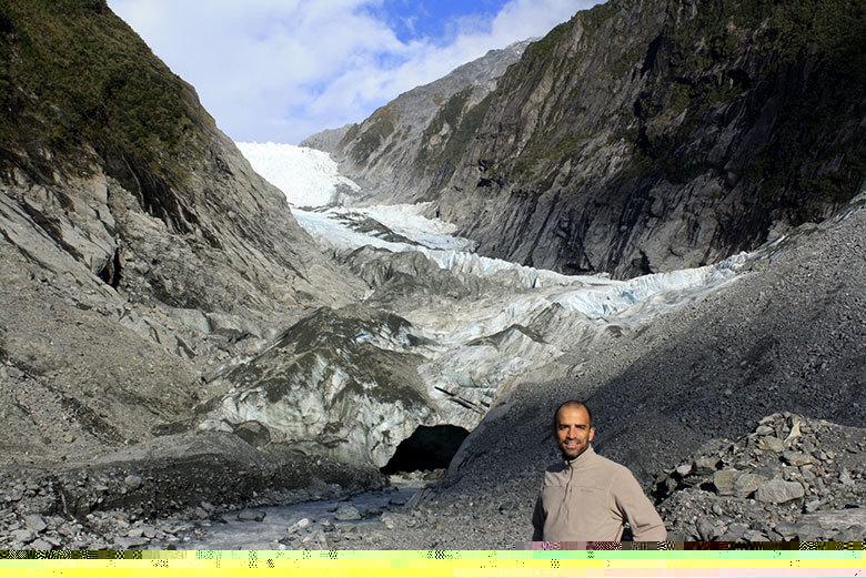 El glaciar Franz Joseph en la isla Sur de Nueva Zelanda