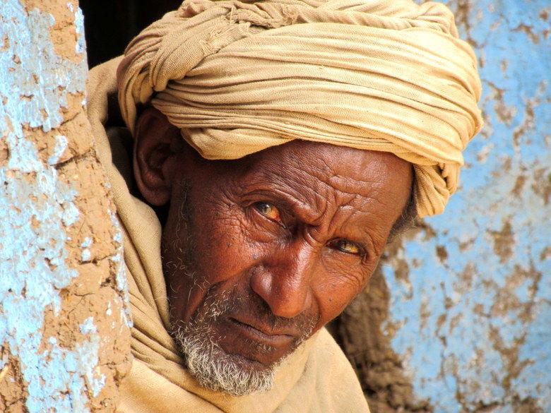 Duro hombre del norte de Etiopía