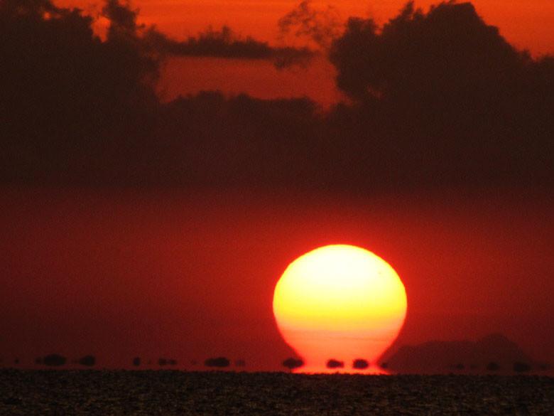 Amanecer africano en el Lago Tana