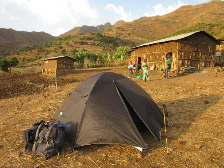 Durante los trekking dormimos en tienda de campaña