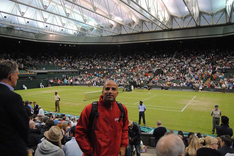 De espectador en Wimbledon