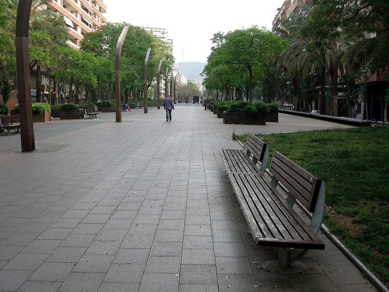 Rambla del Brasil en Barcelona
