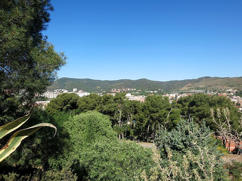 Vistas a Collserola desde el mirador del Turó de la Peira